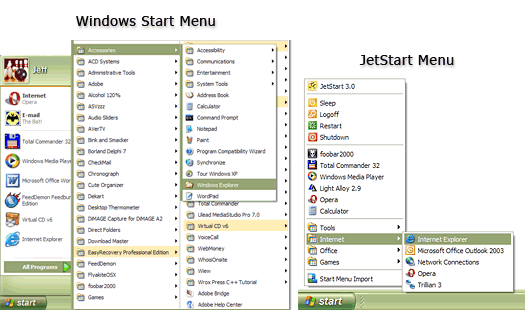Click to view JetStart Free 4.4 screenshot