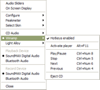 Audio Sliders: Menu
